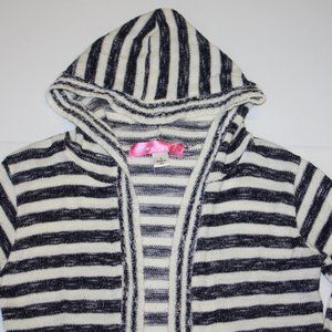 Say What? Shirts & Tops - Say What? Girls Hooded Stripe Cardigan size Small